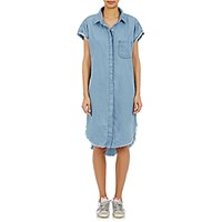 Nsf Women's Raw Edge Denim Shirtdress Light Blue