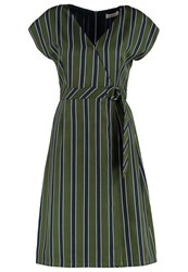 Louche Katarina Summer Dress Green Navy
