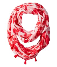 Calvin Klein Inked Floral Infinity Scarf Watermelon Scarves Pink