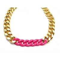 Zt Coloured Chunky Chain Necklace