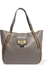 Tom Ford Sedgewick Medium Textured Leather Tote Gray