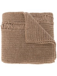 J.W.Anderson J.W. Anderson Distressed Knitted Scarf Nude And Neutrals