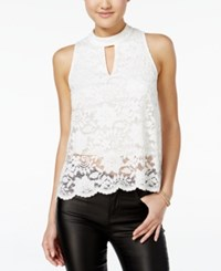 Material Girl Lace Split Back Tank Top Only At Macy's Cloud Dancer