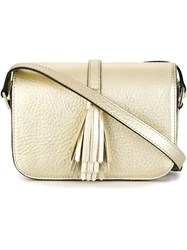 Steffen Schraut Small Tassel Cross Body Bag Metallic