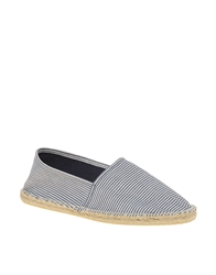 Asos Striped Espadrilles Blue