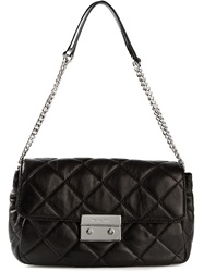 Michael Michael Kors Small 'Sloan' Quilted Messenger Bag Black