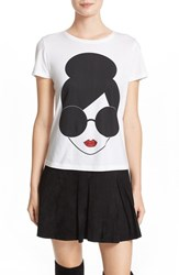 Alice Olivia Women's 'Large Stace Face' Graphic Cotton Tee
