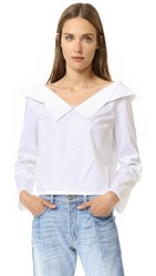 Opening Ceremony Off Shoulder Top White