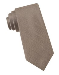 Michael Michael Kors Silk Blend Tie Taupe
