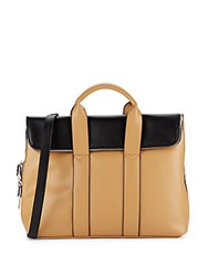 Steve Madden Two Tone Fold Over Satchel Camel