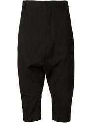 Alexandre Plokhov Drop Crotch Cropped Trousers Black