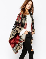 New Look Aztec Wrap Cape Multi