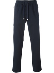 Dolce And Gabbana Cropped Track Pants Blue