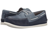 Sperry Gold A O 2 Eye Wedge Navy Blue Men's Slip On Shoes Multi