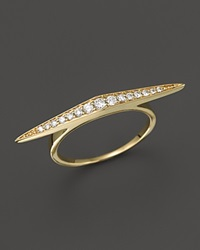 Bloomingdale's Diamond Elongated Thin Statement Ring In 14K Yellow Gold .20 Ct. T.W.
