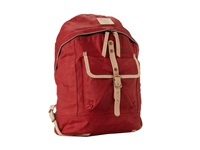 Will Leather Goods Wax Canvas Dome Backpack Red Backpack Bags