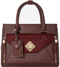 Dune Deevva Removable Clutch Tote Bag Berry Plain Synthetic