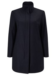 Eastex Buckle Neck Wool Coat Navy