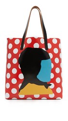 Marni Printed Tote Red