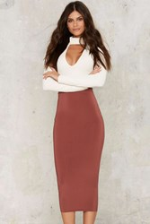 Survival Of The Fittest Midi Bodycon Skirt Red