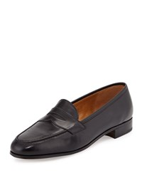 Gravati Calf Leather Penny Loafer Black Size 39.5B 9.5B