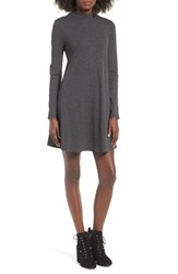 One Clothing Women's Ribbed Swing Dress Grey