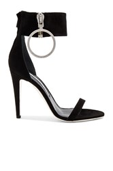 Off White Zipped High Sandal Heel Black
