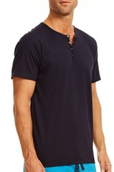 Papi Snap Button Henley Blue
