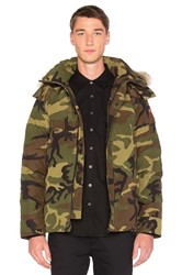 Canada Goose Wyndham Coyote Fur Trim Parka Green