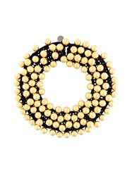 Maria Calderara Oversized Pearls Motif Necklace Black