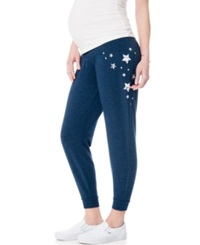 Motherhood Maternity Graphic Under Belly Jogger Pants