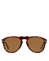 Persol Retro Keyhole Sunglasses Brown