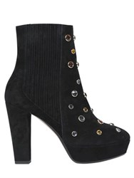 Sonia Rykiel 120Mm Embellished Suede Ankle Boots