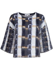 Dorothee Schumacher Checked Boxy Jumper Multicolour