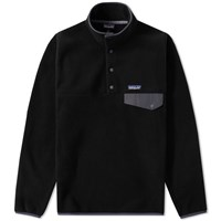 Patagonia Lightweight Synchilla Snap T Pullover Black