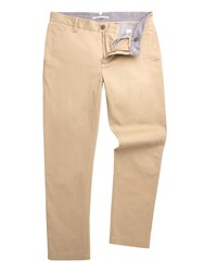 Racing Green Baxter Flat Front Twill Chino Beige