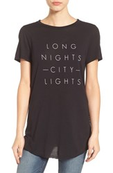 Michelle By Comune Women's 'City Lights' Graphic Tee Black