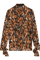 Just Cavalli Printed Chiffon Shirt Red