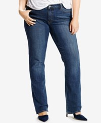 Levi's Plus Size 414 Relaxed Fit Oak Blues Wash Straight Leg Jeans