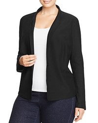 Eileen Fisher Plus Stand Collar Knit Blazer Black