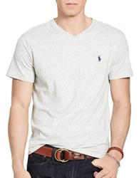 Polo Ralph Lauren Relaxed Fit V Neck T Shirt Lawrence Grey