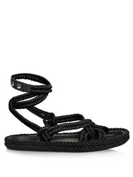 Isabel Marant Lou Wraparound Rope Sandals Black