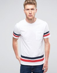 Another Influence Contrast Chest Pocket T Shirt White