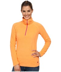 Mountain Hardwear Microchill Lite 1 2 Zip Top Faded Orange Women's Long Sleeve Pullover Red