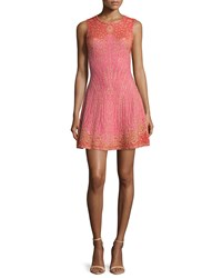 M Missoni Embellished Fit And Flare Dress Pink Size 46