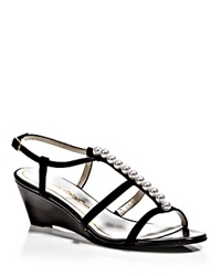 Caparros Open Toe Wedge Evening Sandals Sullivan Black