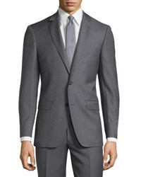 Dkny Solid Wool Two Piece Suit Gray