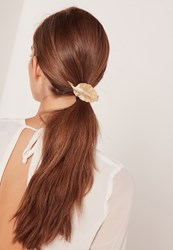 Missguided Leaf Detail Hair Tie Gold Gold