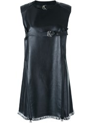 Ktz Leather Swing Dress Black