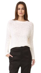 Vince Textured Boxy Pullover White